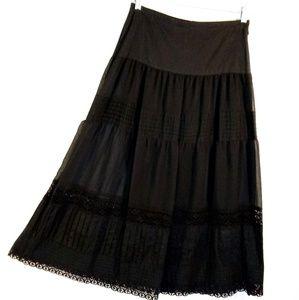 NwoT - S - Apostrophe Crepe n Lace Skirt